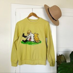 Vintage Style Winnie the Pooh Sweatshirt Disney S